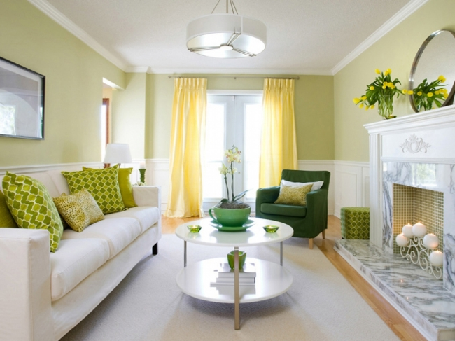 lime green living room accessories decoraci 211 n de salones peque 209 os la mejor paleta de color 21713