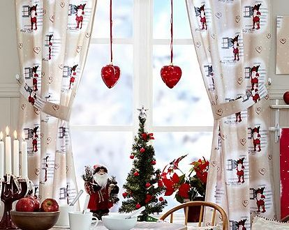 Ideas para decorar cortinas en navidad 2016