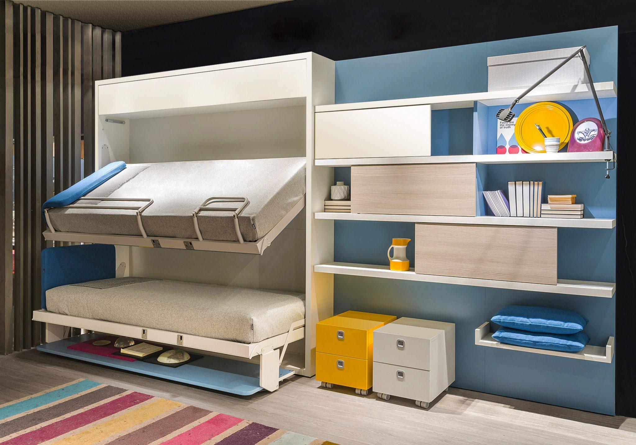 Literas Abatibles Soluci N En Habitaciones Compartidas Hoy Lowcost # Muebles Literas Triples