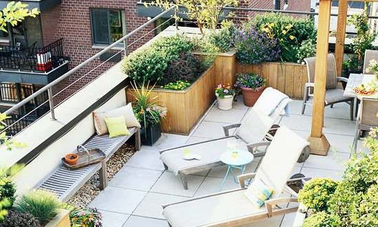 zonas terrazas atico con plantas
