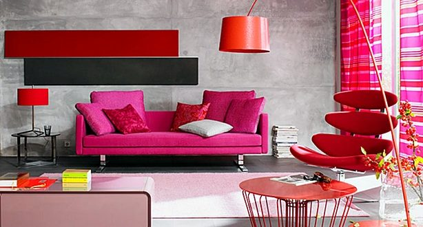 Decorar salón en rojo. Fotos e ideas