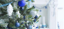 Ideas de decoración de navidad en blanco y azul