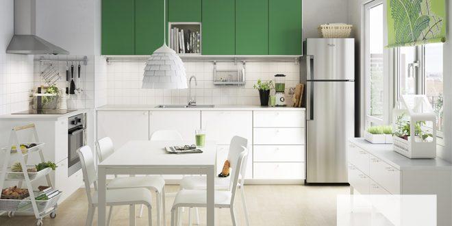 Cocinas verdes. No renuncies al color en tu cocina