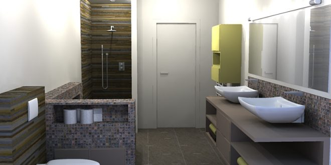 Baños con ducha con mucho estilo